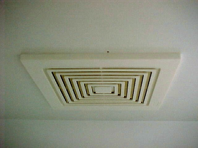 ventilation is provided to each room by ceiling fans these are connected to the digital timers which cycle them on and off as needed - Ceiling Vent Covers